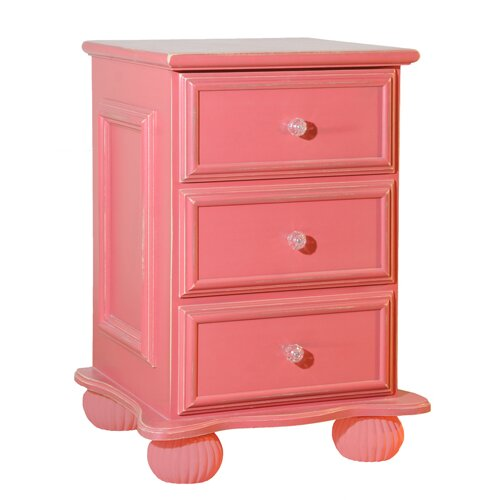 Relics Furniture Wonderland 3 Drawer Nightstand