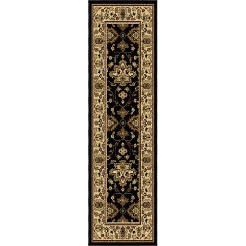 Orian Rugs Inc. Four Seasons Shazad Black Indoor/Outdoor Rug