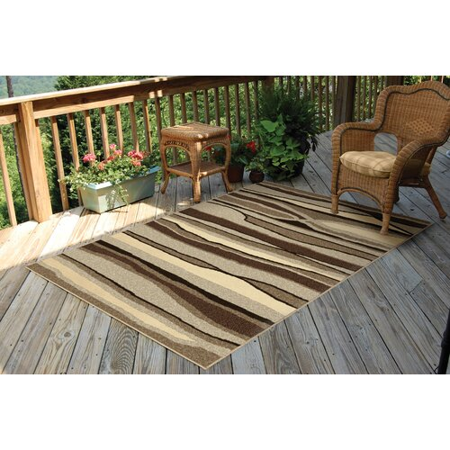 Orian Rugs Inc. Four Seasons Alfresco Stripe Indoor/Outdoor Rug