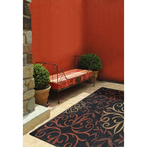 Orian Rugs Inc. Four Seasons Josselin Black Indoor/Outdoor Rug