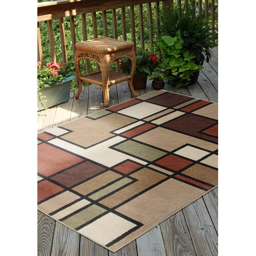 Orian Rugs Inc. Four Seasons Thorburn Rawhide Indoor/Outdoor Rug