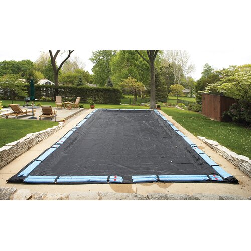 Dirt Defender 8 Year Rectangular Rugged Mesh In Ground Pool Winter Cover