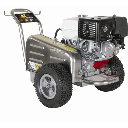 BE Pressure l Belt Drive 3500 PSI 4 GPM Cold Water Stainless Steel Cat Pump Pressure Washer