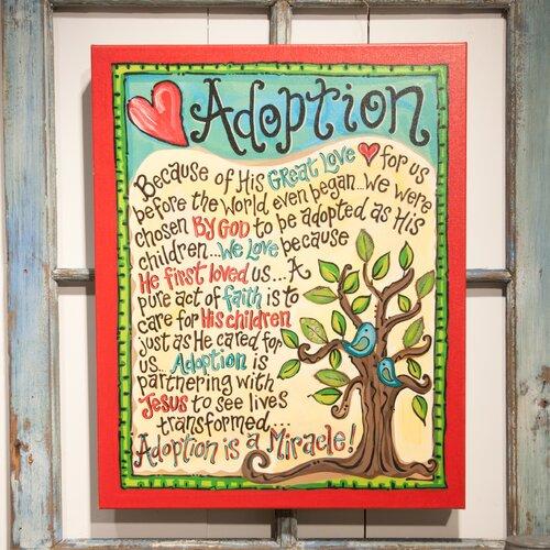 Adoption Textual Art on Canvas