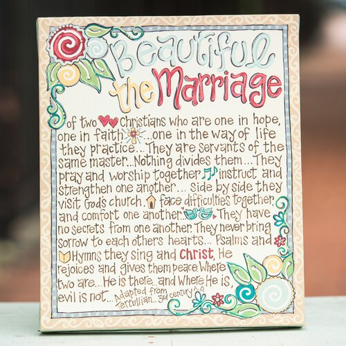 Glory Haus Beautiful The Marriage Table Top Textual Art on Canvas