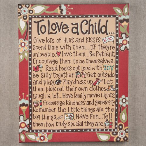 To Love A Child Textual Art on Canvas