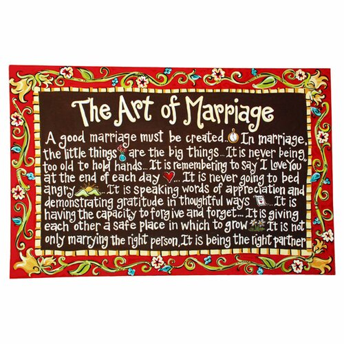 Marriage Textual Art on Canvas