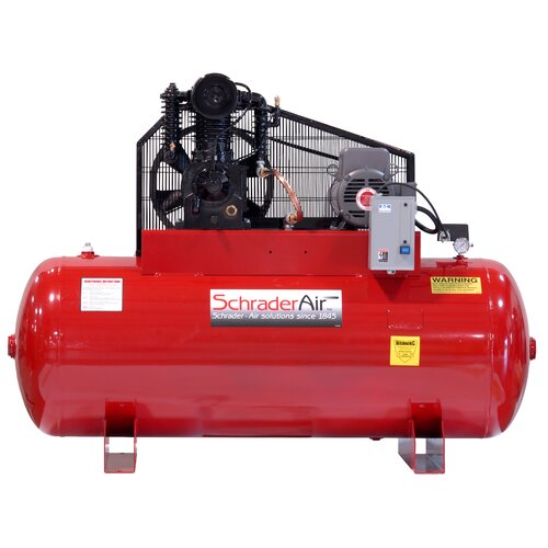 Schrader International Professional Series Two Stage 5 HP 120 Gallon Horizontal Air Compressor