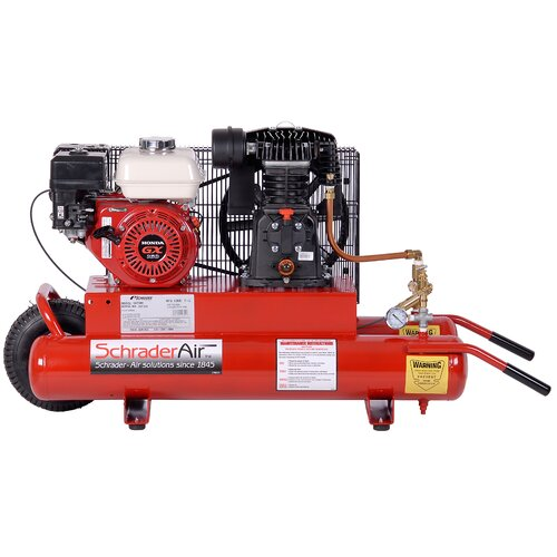 Schrader International 8 Gallon Horizontal Compressor For Contractors Gas Powered Air Compressor