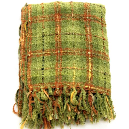 Plaid Mohair Acrylic Throw