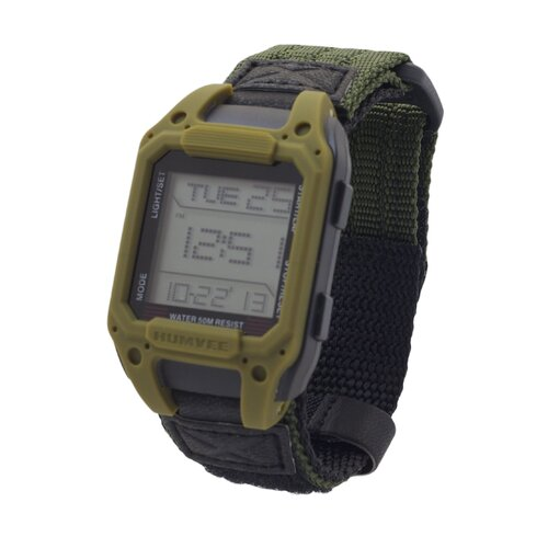 Humvee Recon Men's Rectangular Face Digital Watch