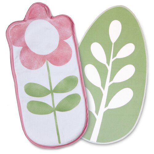 Boppy Heirloom 2 Piece Flower/Leaf Changing Pad Liner