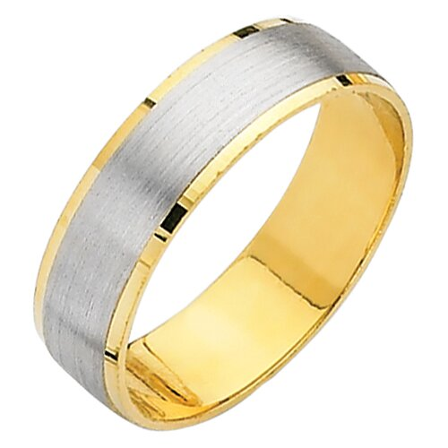 Precious Stars 14k Two-tone Gold Ladies Easy Fit Wedding Band