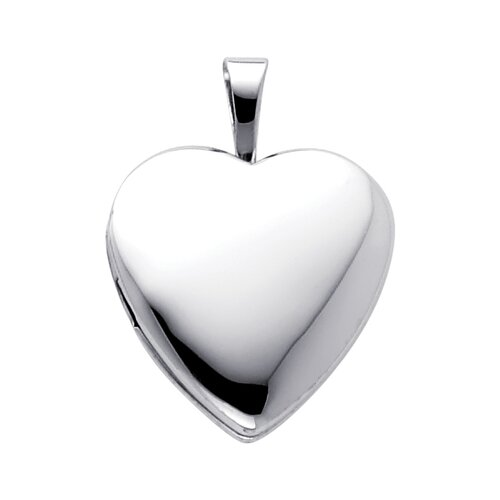 14k Solid Gold Fully Open Close Function Heart Locket Pendant