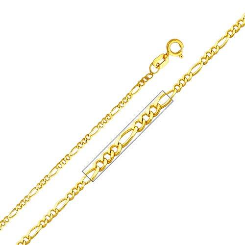 14kt Yellow Gold 1.6mm Figaro Chain