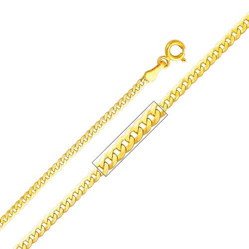 14kt Yellow Gold 2mm Cuban Chain