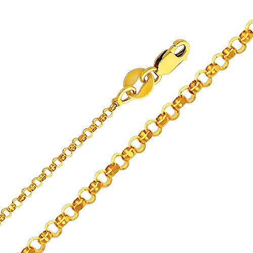 14kt Yellow Gold 1.6mm Classic Rolo Chain