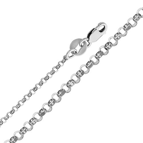 14kt White Gold 1.6mm Classic Rolo Chain