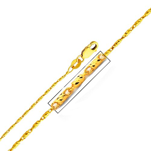 14kt Yellow Gold 1.1mm Snail Chain