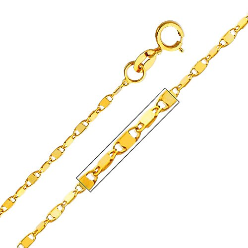 14kt Yellow Gold 1.1mm Twisted Snail Chain