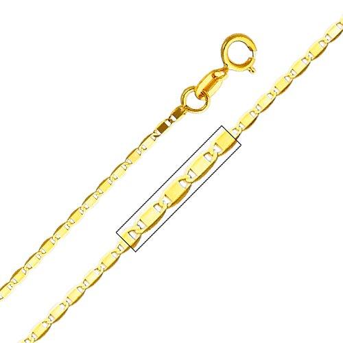 Precious Stars 14kt Yellow Gold 1.3mm Valentino Chain