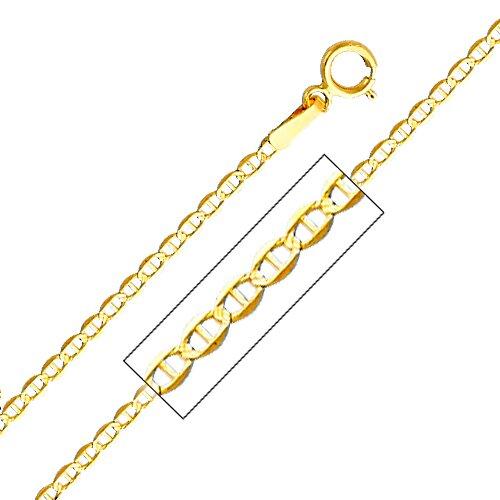 14kt Yellow Gold 1.5mm Mariner Chain
