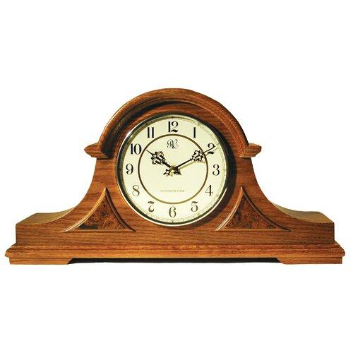 Traditional Chiming Mantel Clock in Medium Oak