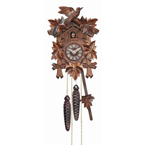 12 Melody Quartz Cuckoo Clock with 5 Leaves and Bird