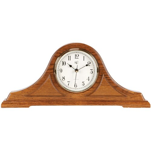 River City Clocks Mantel Radio Controlled Clock in Oak