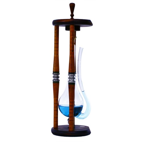 River City Clocks Renaissance Water Barometer with Wood Frame