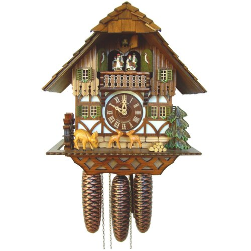 River City Clocks Musical Cottage Cuckoo Wall Clock