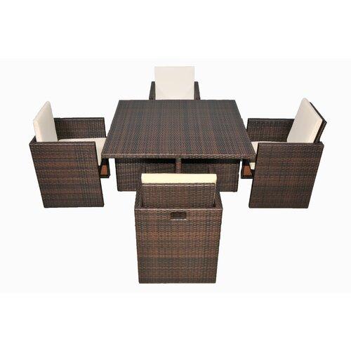 BOGA Furniture Boston Cube 5 Piece Dining Set