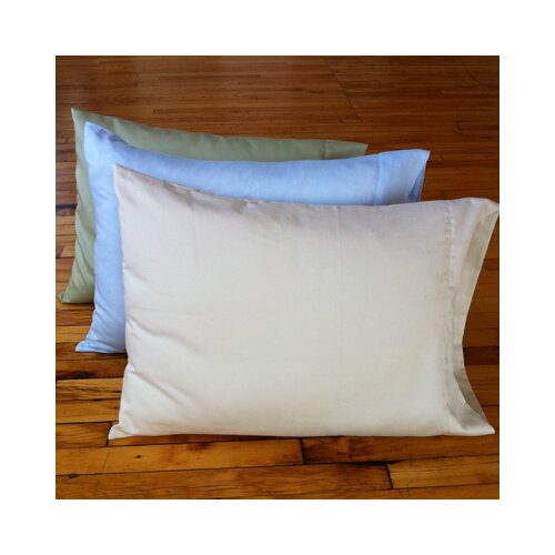 White Lotus Home Kapok Queen Pillow with Organic Case