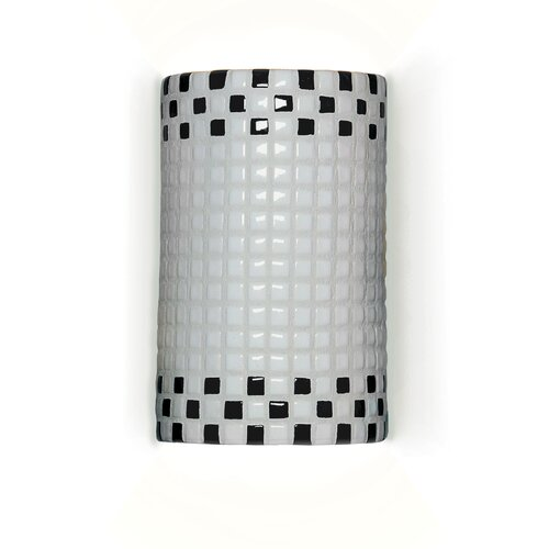 A19 Mosaic Checkers 1 Light Wall Sconce