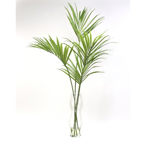 Distinctive Designs Silk Kentia Palm Floor Plant in Decorative Vase