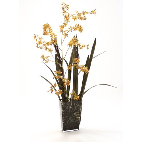 Distinctive Designs Silk Arrangement in Leopard Print Vase