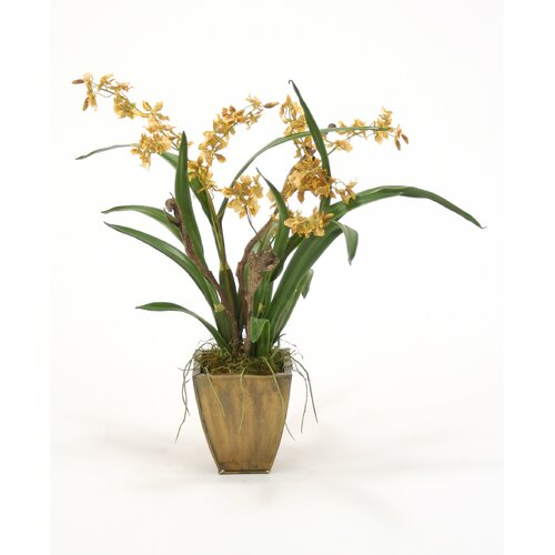 Distinctive Designs Silk Oncidium Orchid Garden Mix in Planter