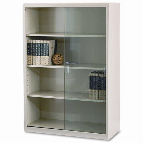 """Tennsco Corp. Tennsco Executive 53"""" Bookcase with Glass Doors"""