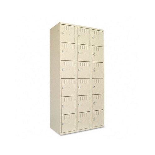 Tennsco Corp. 6 Tier 3 Wide Box Locker