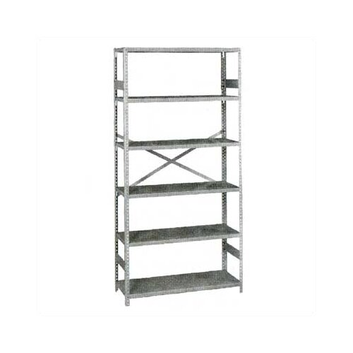 "Tennsco Corp. Standard 75"" H 6 Shelf Shelving Unit Starter"