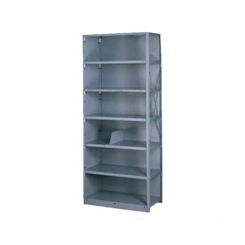 "Tennsco Corp. Q Line Closed 87"" H 7 Shelf Shelving Unit Starter"