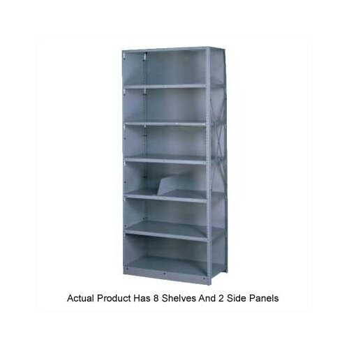 Tennsco Corp. Q Line Closed Shelving, 8 Shelves (Starter)