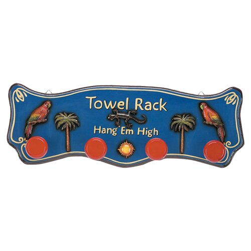 Outdoor Hang'em High Tropical Towel Rack