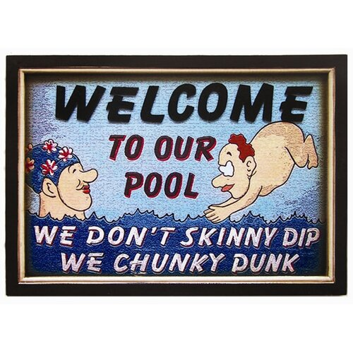 Chunky Dunk Pool Framed Vintage Advertisement