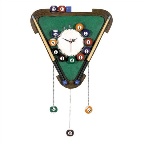 Game Room Billiards Wall Clock