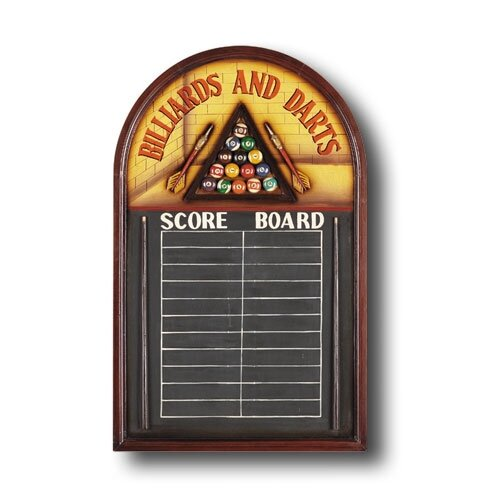 RAM Gameroom Products Hand-Carved Billiards and Darts Sign