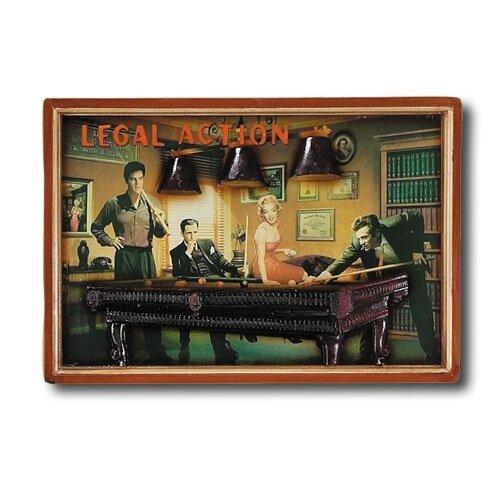Game Room 'Legal Action' Framed Vintage Advertisement