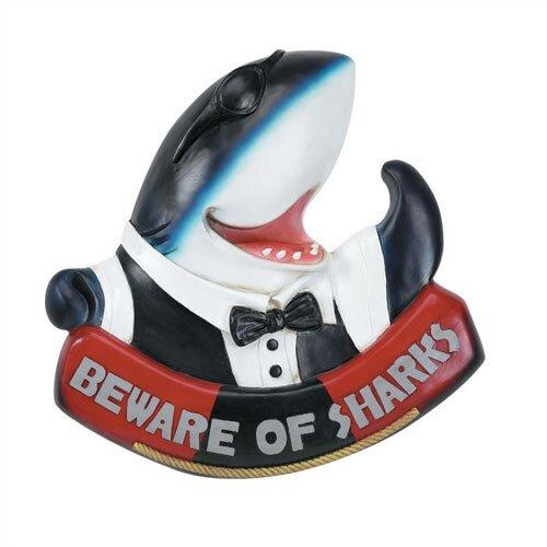 "RAM Gameroom Products ""Beware of Sharks"" Outdoor Sign"