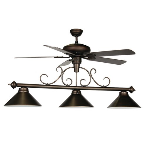 RAM Gameroom Products 3 Light Billiard Light with Ceiling Fan