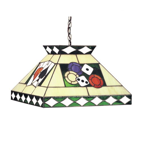 RAM Gameroom Products Tiffany 2 Light Poker Pendant Light